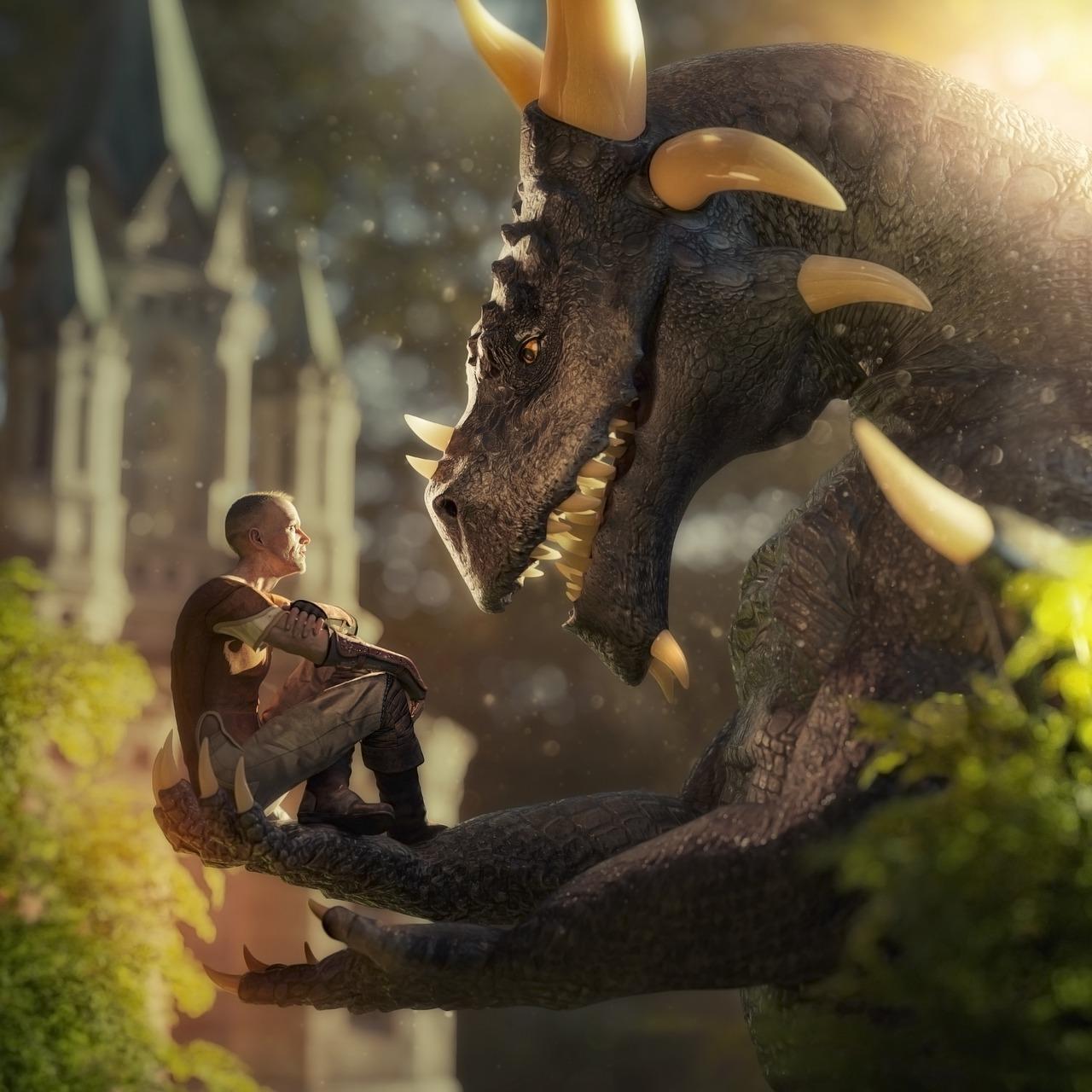 fantasy, dragon, fairytale