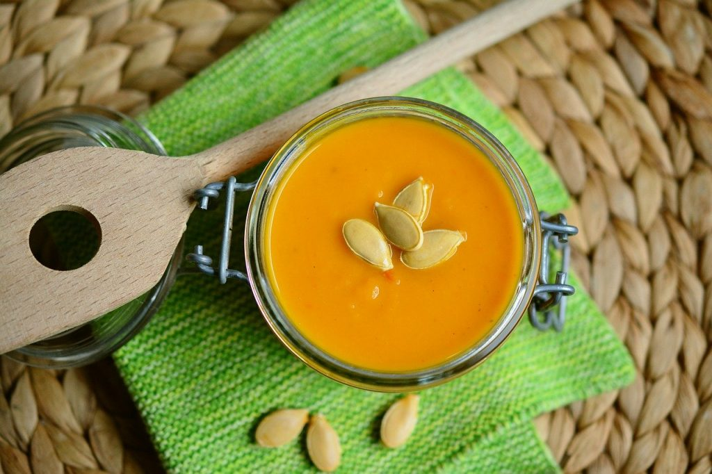 pumpkin soup, soup, cream of pumpkin soup